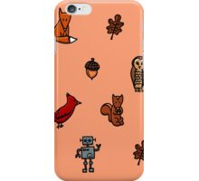 Forest Animals and a Robot iPhone Case/Skin