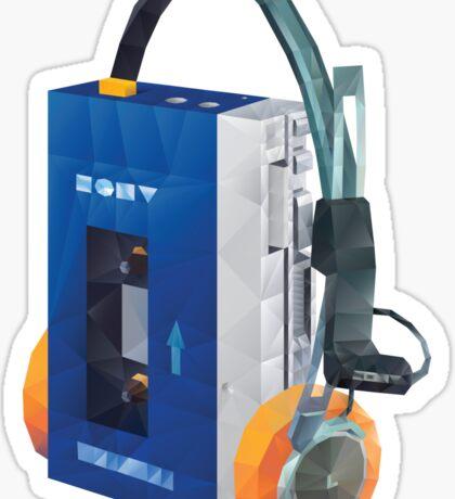Sony Walkman TPS-L2 with MDR-5A Headphone Polygon Art Sticker