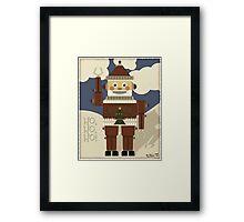 Robot Santa - Ho, Ho, Ho! Framed Print