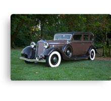 1933 Lincoln Sedan Canvas Print