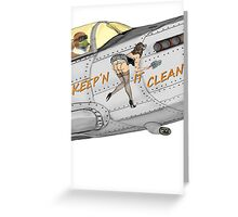 Aircraft nose art Keep'n it clean Greeting Card
