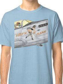 Aircraft nose art Keep'n it clean Classic T-Shirt