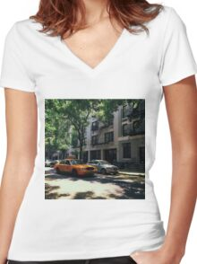 Summer cab Women's Fitted V-Neck T-Shirt
