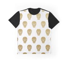 Gold Leaf Sugar Skulls Graphic T-Shirt