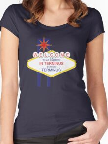 What Happens in Terminus...2 - The Walking Dead Women's Fitted Scoop T-Shirt