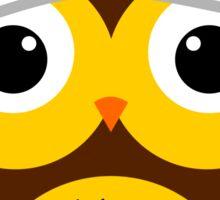 Observant owl Sticker