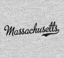 Massachusetts Script Black by USAswagg