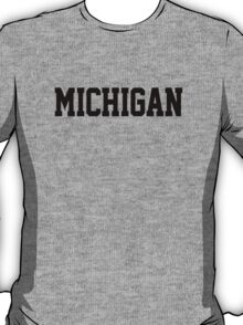 Michigan Jersey Black T-Shirt