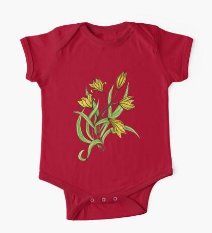 Yellow tulips One Piece - Short Sleeve