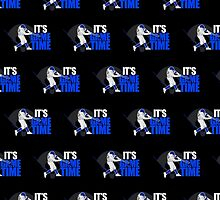 It's Game Time - Baseball (Blue) Pattern 2 by Adamzworld