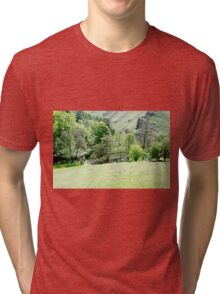 Wolfscote Dale from Gipsy Bank  Tri-blend T-Shirt