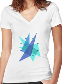 Abstract Octagon Women's Fitted V-Neck T-Shirt