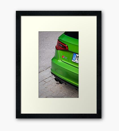 Java Green S3 Framed Print