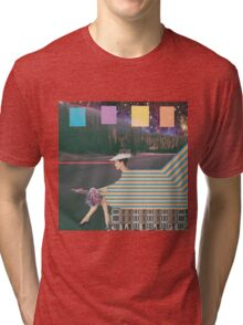 woman by road Tri-blend T-Shirt