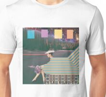 woman by road Unisex T-Shirt