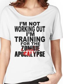 Training For The Zombie Apocalypse (dark text) Women's Relaxed Fit T-Shirt