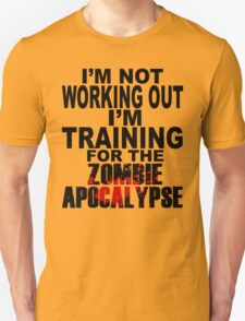 Training For The Zombie Apocalypse (dark text) T-Shirt
