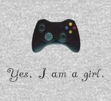 Yes, I am a Girl- (black text) Kids Clothes