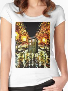 tardis - cool Women's Fitted Scoop T-Shirt