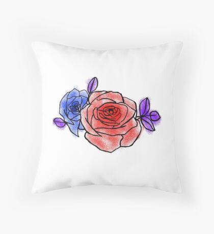 Halsey inspired rose Throw Pillow