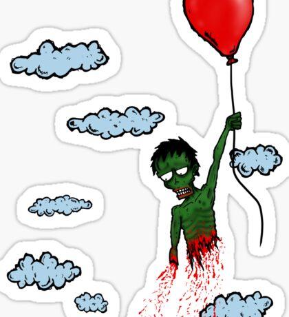 Zombie Balloon Sticker
