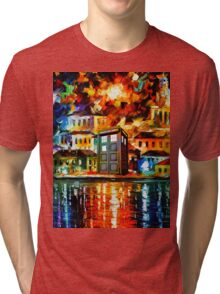 TARDIS CITY Tri-blend T-Shirt