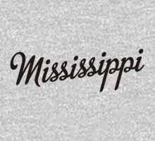 Mississippi Script Black by USAswagg