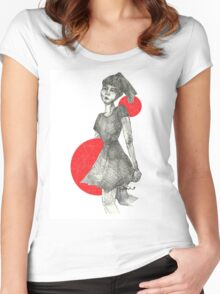 Red Bubble Girl Women's Fitted Scoop T-Shirt