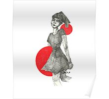 Red Bubble Girl Poster
