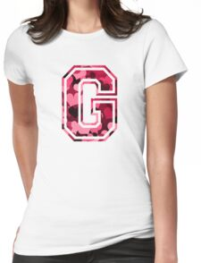 College letter G with hearts pattern Womens Fitted T-Shirt