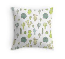 Cacti print Throw Pillow