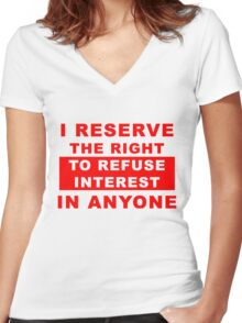 I Reserve the Right Women's Fitted V-Neck T-Shirt