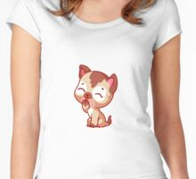 Little cute kitten Women's Fitted Scoop T-Shirt
