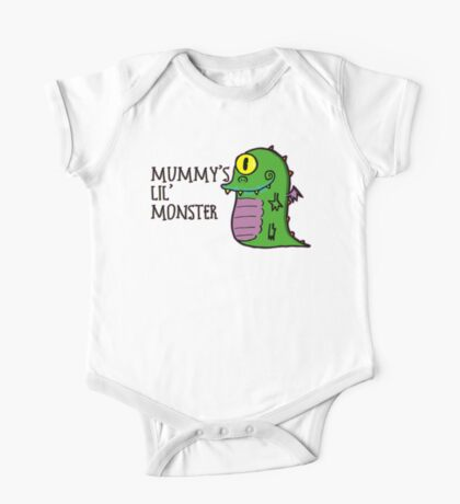 Mummy's Lil Monster One Piece - Short Sleeve