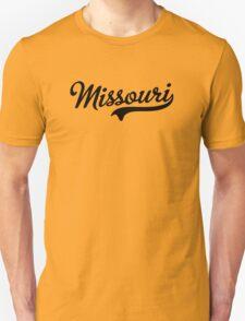 Missouri Script Black T-Shirt