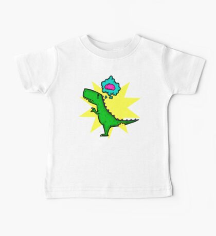 Dino Wants Brains Baby Tee