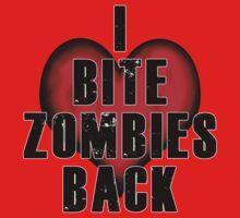 I Bite Zombies Back One Piece - Long Sleeve