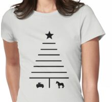Minimalist Christmas Tree Womens Fitted T-Shirt