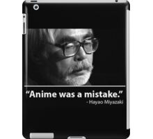 anime was a mistake iPad Case/Skin