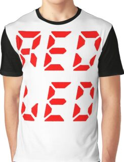 RED LED retro techno Graphic T-Shirt