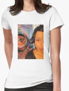 Third Eye by Darryl Kravitz  Womens Fitted T-Shirt