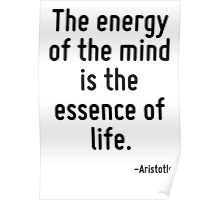 The energy of the mind is the essence of life. Poster