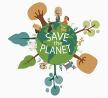 Save the Planet Kids Tee
