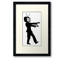 TV Zombie Framed Print