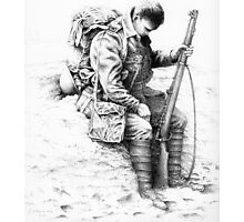 WW1 British Soldier 'Weary Tommy' Photographic Print