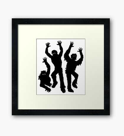 Zombies Silhouette Framed Print
