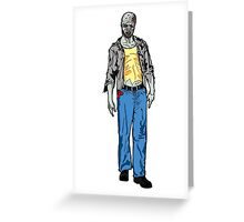 Undead Zombie Man Drawing Greeting Card