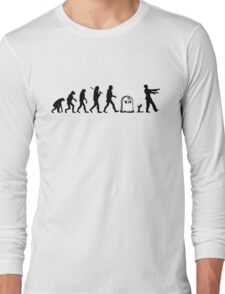 Human to Zombie Evolution Long Sleeve T-Shirt