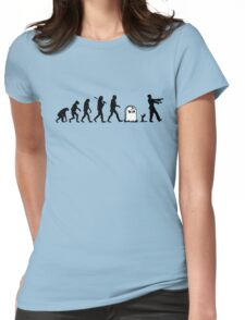 Human to Zombie Evolution Womens Fitted T-Shirt