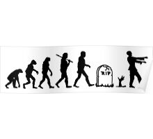 Human to Zombie Evolution Poster